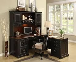 corner desk home office furniture shaped room. 3-pc Bridgeport L-Shaped Corner Desk With Hutch | Riverside Home Gallery Office Furniture Shaped Room