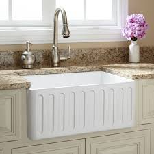 24 northing fireclay farmhouse sink fluted a white