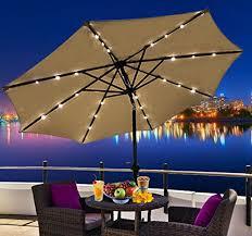 outsunny outdoor patio umbrella with tilt