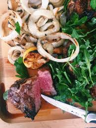 Dainty Cooking On Grilled Lamb Herb Salad Lamb Chops Tv Show Youtube