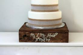 rustic wood cake stand wedding cake stand wooden cake stand personalised wedding decor rustic cake stand