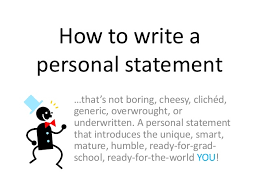 Personal Statement Grad School Samples How To Write A Personal Statement For Grad School