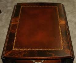 leather top coffee table vintage