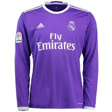 Long Madrid Real Blue Sleeve Jersey