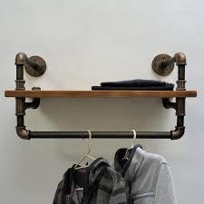 Industrial Pipe Coat Rack Unique Wall Mount Clothing Rack Industrial Clothes Rack Clothes Organizer