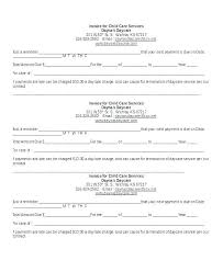 Daycare Contract Template Free Awesome Home Daycare Contract Forms