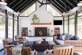 Image Houzz 3 This Serene Screen Porch With Daybed Swing Livabl 21 Breezy Indooroutdoor Rooms For Hot Summer Days