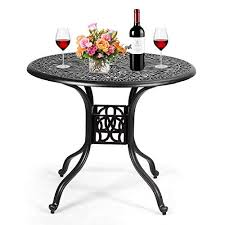 bistro table outdoor patio table