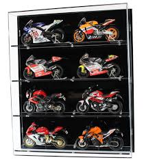 acrylic model wall display case for 1 12 scale motorcycles 4 shelves