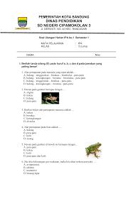 Sistem ekskresi manusia (bab 9). Soal Ulangan Harian 1 Kelas 5 Semester 1