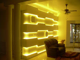 living room wall panel with led light bulbs behind the loveseat full size