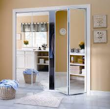 mirror closet doors bifold white framed keystone intended for door design 7