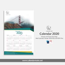 3 Page Calendar Design Damas Simple And Clean One Page Free Wall Calendar Design