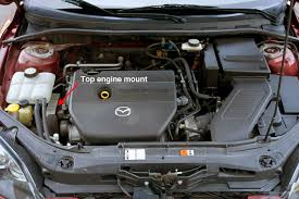 used 2004 2009 mazda 3 review what to look for common problems mazda 3 leaking rear shock absorber top engine mount