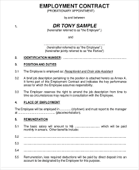 Free Employment Contract Templates 11 Employment Contract Templates Pages Docs Word Free