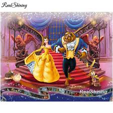 beauty and the beast 5d diamond painting and get free on aliexpress com
