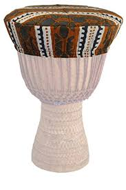 African Drum Designs Djembe Head Cover Assorted African Cloth Designs
