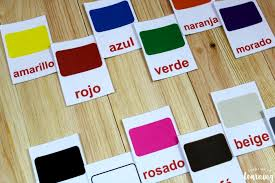 This is a personal with the words on the cards, they become reliant on reading as opposed to remembering. Printable Spanish Flashcards Spanish Color Flashcards Look We Re Learning