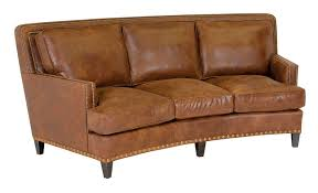 classic leather palermo 90 curved sofa