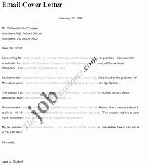 emailing cover letter format template emailing cover letter format