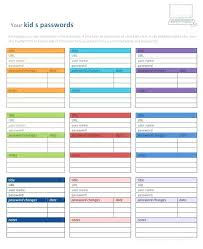 Password Organizer Template Excel Templates Word In French