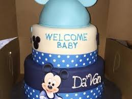 Mickey Mouse Baby Shower Cake  Bellau0026Emm POPS  Pinterest Baby Mickey Baby Shower Cakes