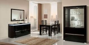 modern dining room buffet. Modern Lacquer Dining Table Set Furniture In Black Features Room Buffet R