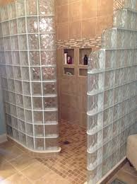 Bathroom: 50 Glass Block Shower With Ready For Base Ideas - Showers With Glass  Block