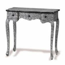 silver hall table. Queen Anne Console Table Blackened Silver Embossed Dressing Hall Amazon Co Uk Kitchen