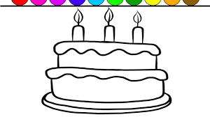 Creative Idea Birthday Cake Coloring Page Learn Colors And Color