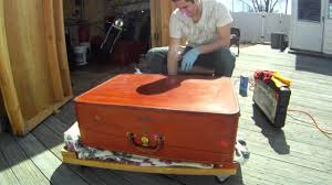 Restoring Antique Leather Vintage 50s 60s American Leather Suitcase Restoration Youtube