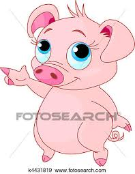 baby piglet drawings. Simple Piglet Clip Art  Baby Piglet Pointing Fotosearch Search Clipart Illustration  Posters Drawings On Piglet A