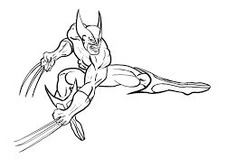 Small Picture Wolverine Coloring Pages For Kids ColoringPagehub
