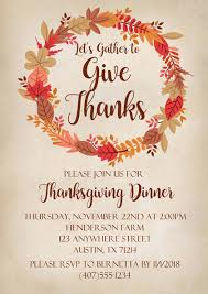 Thanksgiving Invites Thanksgiving Dinner Invitations