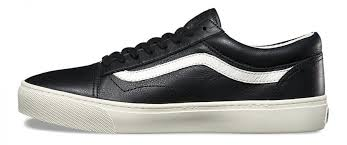 vans old skool cup leather black shoes mens vans trainers u45o8718
