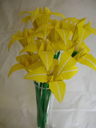 Paper Origami Flower Bouquet Yellow Origami Flower Bouquet