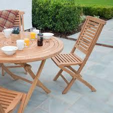 balm teak garden furniture dining set 4 seat round folding table folding chairs