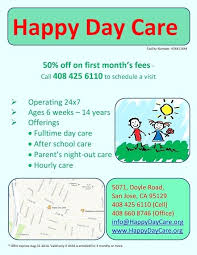 Open House Flyer For Daycare Template Literals Html Proposal Review