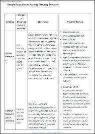 Recruiting Plan Template Recruitment Plan Template