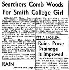 sylvia plath info more sylvia plath newspapers articles from last year i found through newspaper archive online more articles about sylvia plath s first suicide attempt the search for her and her discovery from