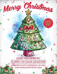 Christmas Flyer Templates Merry X Mas Free Christmas Flyer Template Download For
