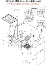3400 815 coleman electric furnace parts hvacpartstore Electric Furnace Wiring Schematic click here to view an installation manual which includes wiring diagrams electric furnace wiring schematic diagrams