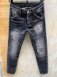 Expensive Mens Designer Jeans 2019 Luxury Mens Designer Jeans D2 Men Denim Slim Jeans Blue Denim Skinny Dan Cool Guy Jeans Fashion Holes Trousers Italy Size 44 54 17036 From