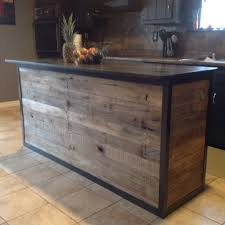 Pallet Wood Backsplash Diy Kitchen Island Made From Pallet Wood For My Future Home