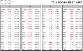 Ego7 Size Chart Ego 7 Aries Dress Boot Foxcreek