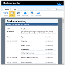 How To Write An Agenda Of A Meeting Business Meeting Agenda