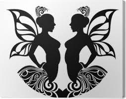 Znamení Zvěrokruhu Gemini Tetování Design