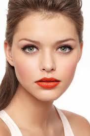 orange lip color winter makeup