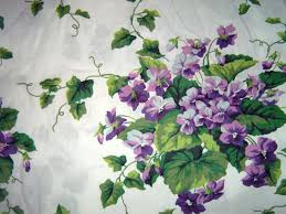 Waverly Sweet Violets Fabric Purple Green Lavender Floral Shower ... & Waverly Sweet Violets Fabric Purple Green Lavender Floral Shower Curtain |  eBay Adamdwight.com