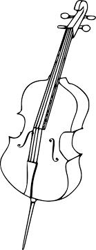 Coloriage De Violoncelle Pour Colorier L